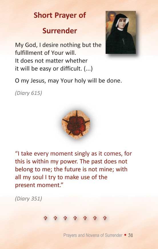 image about Surrender Novena Printable called Divine Mercy Publications: Surrender Novena (+ Prayer of Have confidence in