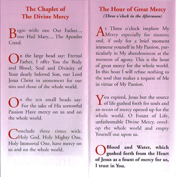 Leaflets: Miracle Prayer