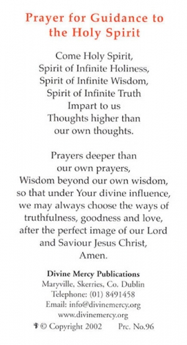 Prayer Cards: Guidance from the Holy Spirit