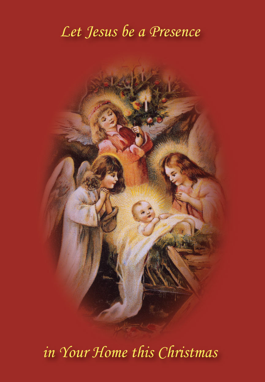 angels_and_child_4e89d4fe631f5jpg - Jesus Christmas Cards