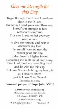 Pope John XXIII - Strenght For This Day Prayer