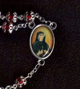 Divine Mercy Silver Rosary Beads